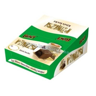Boci Parizsi cube, coffee cream choc, 12.5g - 40/box