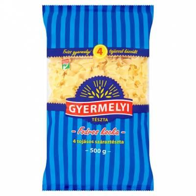 """Gyermelyi """"Fodros kocka"""" Frilly Square Pasta, 500g - 16/box"""