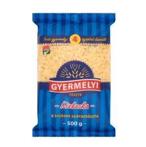 """Gyermelyi """"Kiskocka"""" Small squares pasta, 500g - 20/box"""