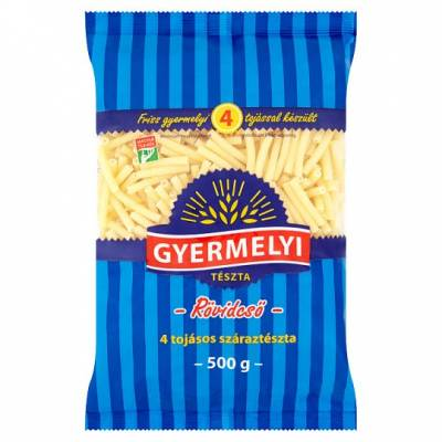 "Gyermelyi ""Rovidcso"" Short Makaroni pasta, 500g - 20/box"