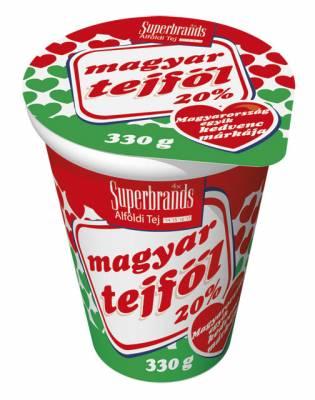 """Sour Cream, """"Magyar Tejfol"""" 20%, 330g - 12/box"""