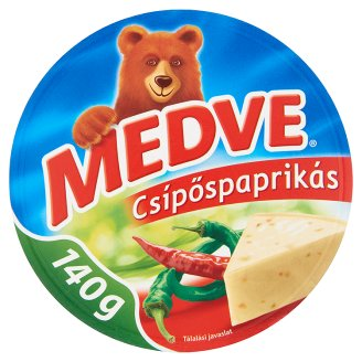 "Medve ""Csipospaprikas"" Chilli flav. soft cheese, 140g - 20/box"