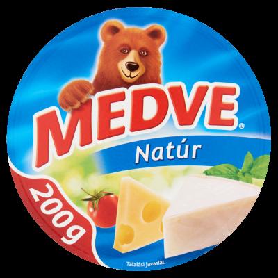 "Medve ""Natur"" Natural flav. soft cheese, 200g - 20/box"
