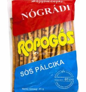 "Nogradi ""Ropi"" salted bread sticks, 45g - 50/box"