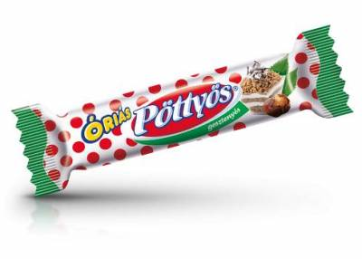 """Pottyos Rudi,""""Gesztenyes"""" Chestnut milk dessert, 51g - 25/box"""
