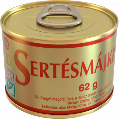 "Szegedi, ""Sertesmajkrem"" Pork liver pate, 62g - 24/box"