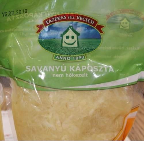 "Fazekas Vecsesi ""Savanyu kaposzta"" shredded sour cabbage, 800g - 20/box"