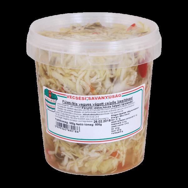 """Vecsesi Fules """"Vegyesvagott"""" Cabbage Mix Salad, Mild, 500g - 850g - 14/box"""