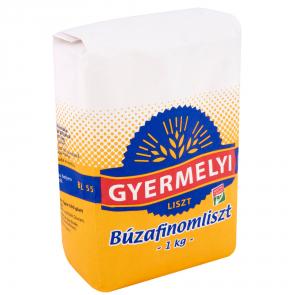 """Gyermelyi """"Finomliszt"""" White flour, 1kg - 10/box"""