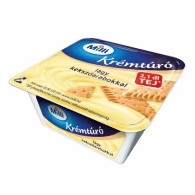 "Mia ""Kremturo"" Cottage cheese dessert, ""kekszes"", 90g - 15/box"