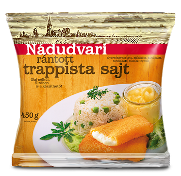 "Nadudvari ""Trappista"" Breaded Cheese, 450g - 10/box"