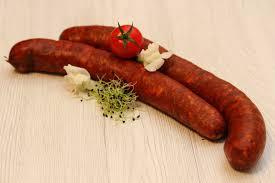 "Piacteri ""Parasztkolbasz csipos"" smoked sausage, spicy ~400g, 1kg price - 10kg/box"