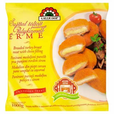 "Gallicoop ""Sajtos Erme""Cheesy Turkey burger, 1kg - 6/box"