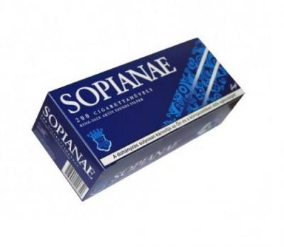 Sopianae blue cigarette paper, 200pcs - 50/box