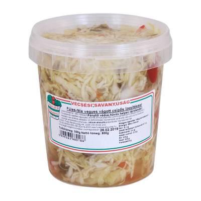 "Vecsesi Fules ""Vegyesvagott"" Cabbage Mix Salad, Spicy, 500g - 850g - 14/box"